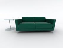 Sofá e tabela verdes ilustração royalty free