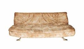 Sofá em um fundo branco Fotografia de Stock