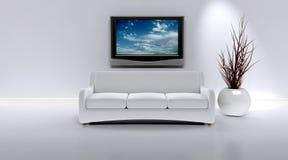Sofá em um interior contemporâneo ilustração stock