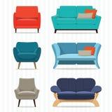 Sofá interior Fotografia de Stock