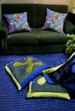 Sofá - interiores caseros Fotografía de archivo libre de regalías