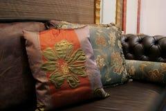 Sofá - interiores home Fotografia de Stock