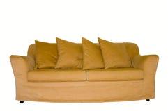 Sofá isolado no branco Fotografia de Stock Royalty Free