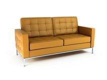 Sofá isolado no fundo branco. 3d Imagens de Stock
