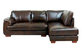 Sofá marrón de la elegancia Fotografía de archivo
