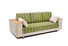 Sofá moderno isolado no branco Fotografia de Stock