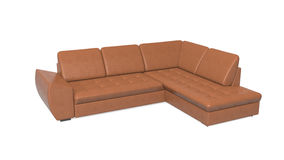Sofá, muebles aislados en el fondo blanco Imagen de archivo
