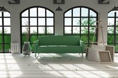 Sofá no ajuste moderno do apartamento Fotografia de Stock