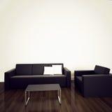 Sofá no interior moderno com rendição 3d Fotografia de Stock Royalty Free