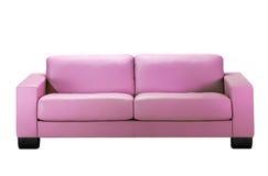 Sofá rosado Fotos de archivo