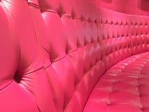 Sofá rosado Fotografía de archivo