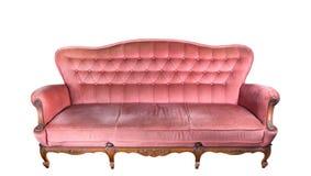 Sofá rosado de la vendimia Foto de archivo