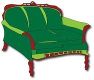 Sofá verde Stock de ilustración