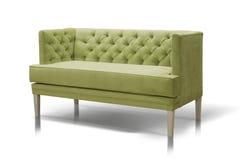 Sofá verde fotografia de stock royalty free