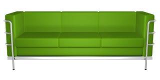 Sofá verde ilustración del vector
