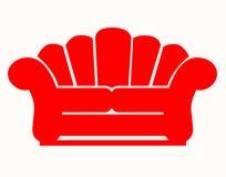 Sofá vermelho Fotos de Stock Royalty Free