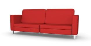 Sofá vermelho ilustração stock