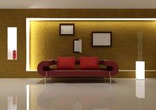 Sofá vermelho Fotografia de Stock