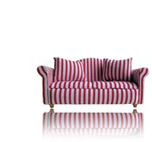 Sofá vermelho e branco Foto de Stock
