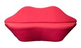 Sofá vermelho isolado Imagem de Stock