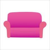 Sofá vermelho no fundo branco Imagem de Stock Royalty Free