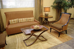 Sofá y silla Foto de archivo