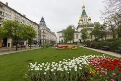 SOFÍA, BULGARIA - 14 DE ABRIL DE 2016: Hermosa vista de Rus colorido Imagen de archivo libre de regalías