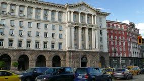 Sofía, Bulgaria - 24 de abril de 2018: Edificio del Consejo de Ministros en Sofía, Bulgaria almacen de video