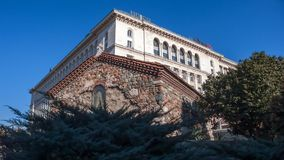 SOFÍA, BULGARIA - 20 DE DICIEMBRE DE 2016: Vista asombrosa de la iglesia del St Petka en Sofía Fotos de archivo libres de regalías