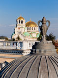 Sofía, St Aleksander Newski catedral Fotografía de archivo libre de regalías