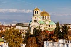 Sofía, St Aleksander Newski catedral Foto de archivo