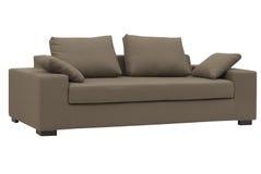 Sofá de Brown Fotografia de Stock