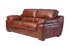 Sofá de couro da elegância Fotos de Stock Royalty Free