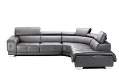 Sofá de couro preto Imagens de Stock Royalty Free