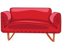 Sofà domestico della mobilia del fumetto Fotografia Stock