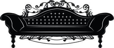Sofà imperiale barrocco Immagini Stock