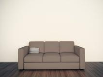 Sofá interior em branco mínimo Foto de Stock Royalty Free