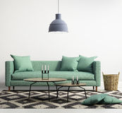 Sofà moderno contemporaneo verde Immagine Stock