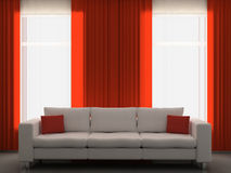 Sofá na sala de visitas Fotografia de Stock