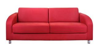 Sofá rojo Fotos de archivo