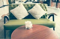 Sofá verde Imagens de Stock