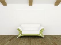 sof zielony nowożytny biel Fotografia Stock