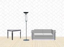 sofa światło tabeli royalty ilustracja