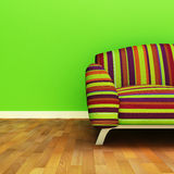 Sofa. A contemporary colorful sofa in an interior Royalty Free Stock Image