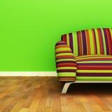 Sofa. A contemporary colorful sofa in an interior stock illustration