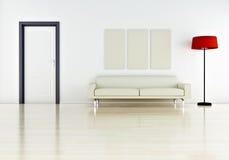 Sofa. Modern interior (3D render) - Elegance Furniture stock illustration