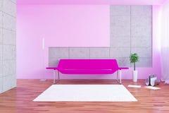 Sofa. Modern urban interior with sofa and plant Stock Photography