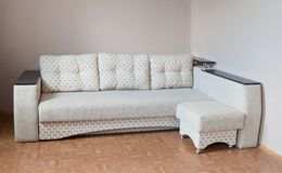 Sofa. A modern gray sofa at home Royalty Free Stock Photo