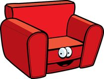Sofa. A happy red sofa chair Stock Photo