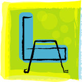Sofa. Vector illustration for a artistic sofa, side view Stock Images